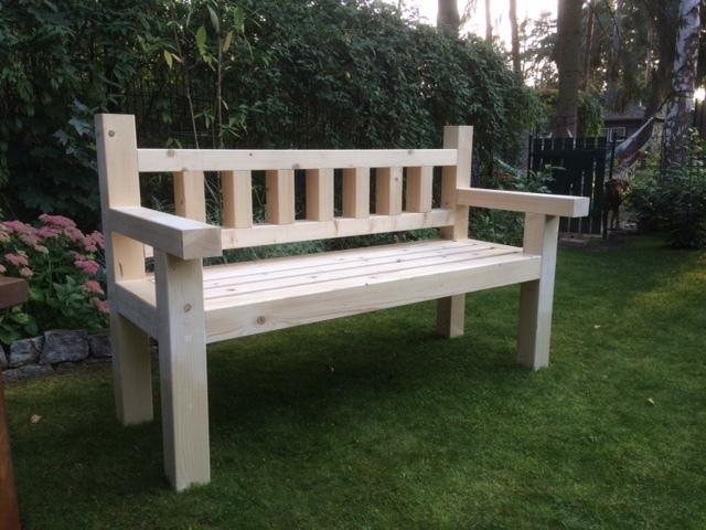 Gartenbank Holz Massiv Natur Geschenkideen Geschenkartikel
